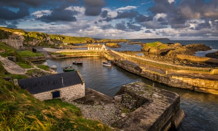 Ice and fire: a view across Ballintoy Harbour