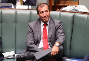 The special minister of state, Mal Brough, during question time on Wednesday.