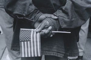 Hands with Flag, Chicago, 1990
