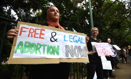 A 2016 file picture of abortion pro-choice supporters in Brisbane