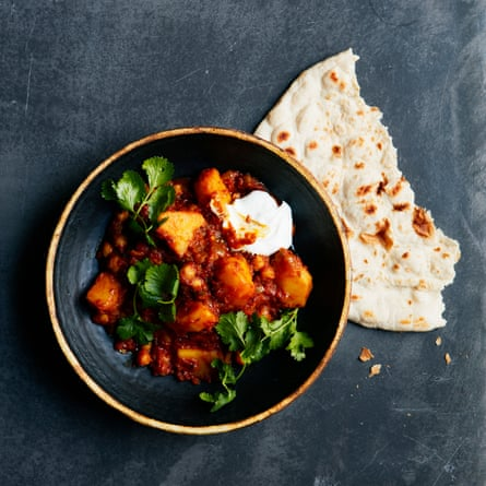 Thomasina Miers' potato and chickpea curry.