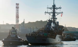 The USS John McCain.