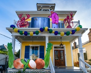 A home decorated in honour of chef Leah Chase
