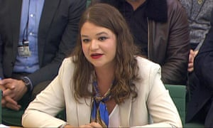 Brittany Kaiser speaking to the parliamentary digital, culture, media and sport committee