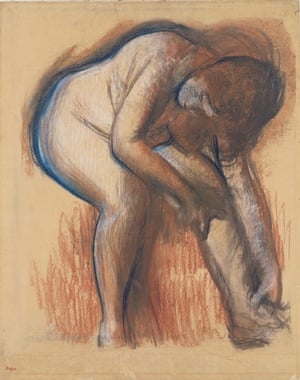 Degas's Après le bain, femme s'essuyant la jambe 1900–5.