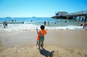 A child on Bournemouth beach