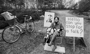 Fran De'Ath at Women's Peace Camp at RAF/USAF Greenham Common, Berkshire (1982)