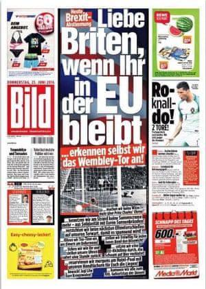 Bild's front page