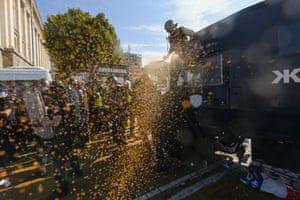 Police use pepper spray