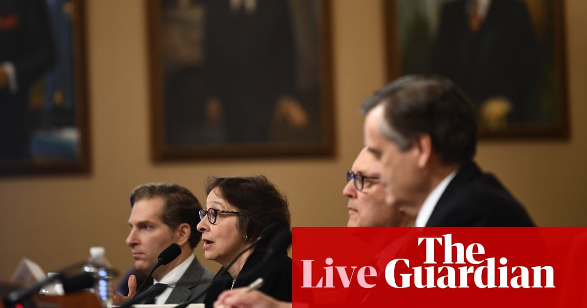 Impeachment inquiry: Trump's actions constitute bribery, says witness – live