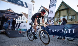 David Millar speeds off on Maserati Haute Route Norway time trial on day 3