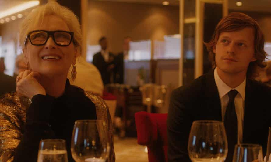 Meryl Streep and Lucas Hedges inLet Them All Talk.
