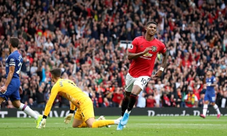 Manchester United defeated Chelsea 4-0 in their first game of the Premier League season.