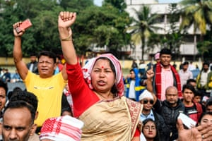 Guwahati, India. Demonstrations continue across the country against the government's citizenship amendment bill
