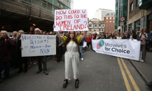 A protest held outside the Department of Health in Dublin last week against plans to grant ownership of the National Maternity Hospital to the Sisters of Charity religious order.