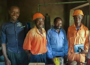 The team that will take over the running of management of the water system at Kasongo.
