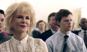 Painful experiences … Nicole Kidman and Lucas Hedges in Boy Erased.