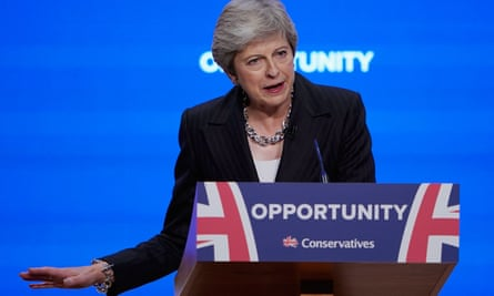 Theresa May at the Tory party conference
