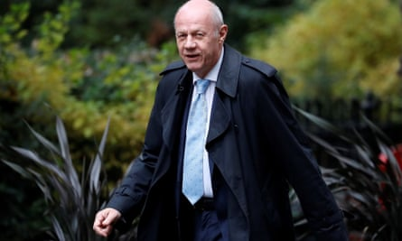 Damian Green arrives in Downing Street on Monday