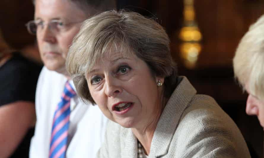 Theresa May chairs a meeting of the cabinet at the prime minister's country retreat Chequers.