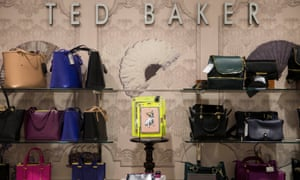 Ted Baker goods are displayed in a store in London
