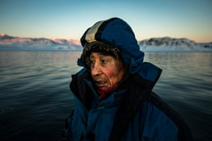 Johan Aaqqii hunts for seals in the semi-frozen ocean around Ittoqqortoormiit