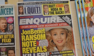 National Enquirer, which was last week found to have suppressed a story on behalf of Donald Trump.