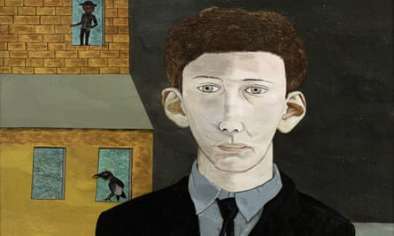 A detail from Man with a Feather by Lucian Freud
