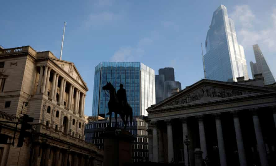 City of London skyline with the Bank of England in the foreground.