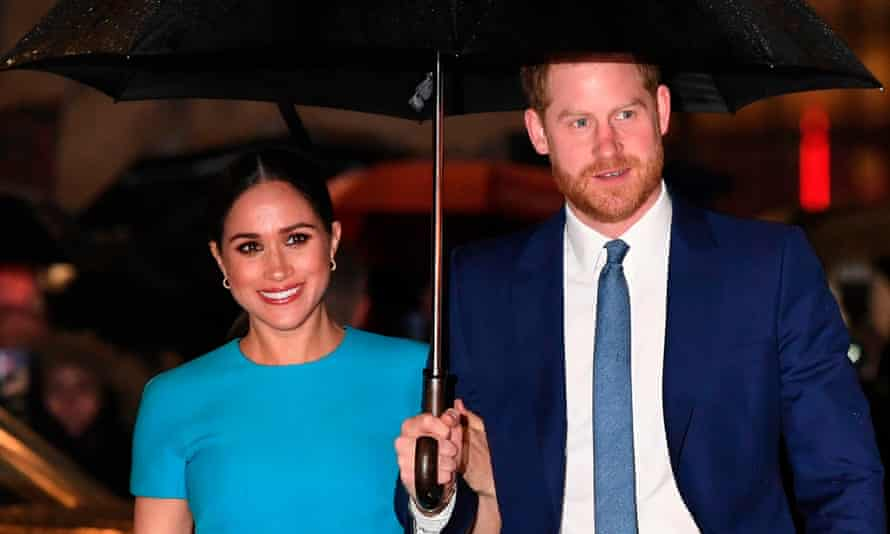 Harry and Meghan in March 2o2o.
