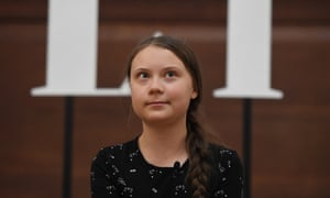 Swedish schoolgirl climate activist Greta Thunberg
