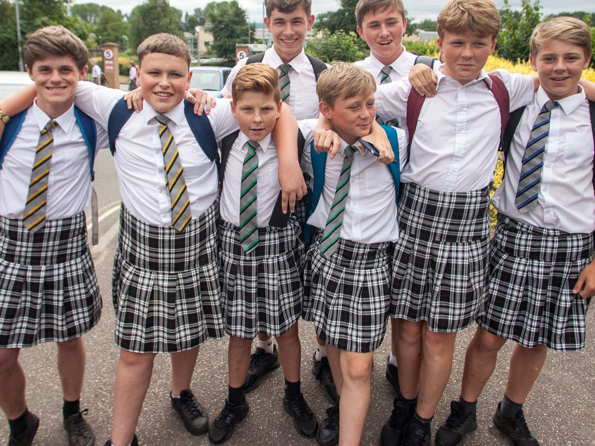 Exeter school's uniform resolve melts after boys' skirt protest | Schools |  The Guardian