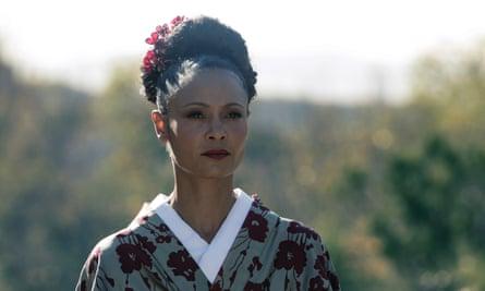 Thandie Newton in a still from season 2 of Westworld.