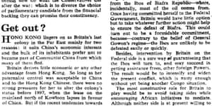 The Observer, 16 July 1967.