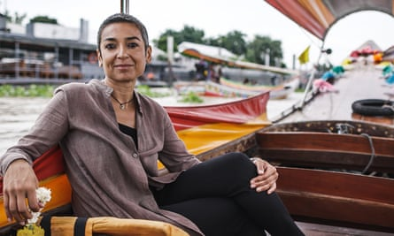 Zainab Salbi filming her new TV show on Huffington Post