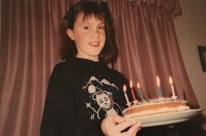 Katie Thompson at age 8.