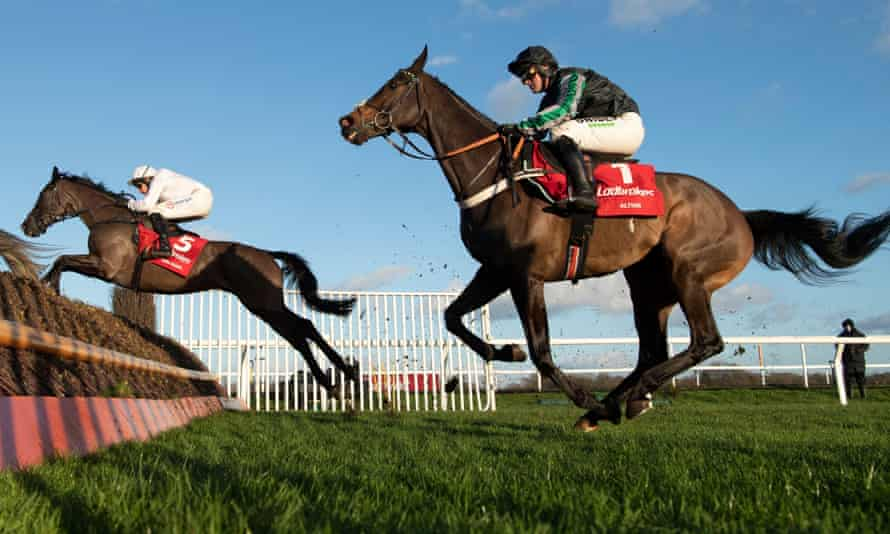 Altior, right, was last seen running second to Nube Negra at Kempton's Christmas meeting.