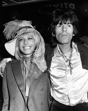 Anita Pallenberg and Keith Richards.