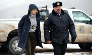 Elizabeth Olsen and Graham Greene in Wind River.