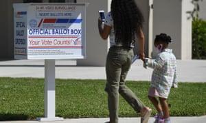 A ballot box in Palm Beach, Florida.