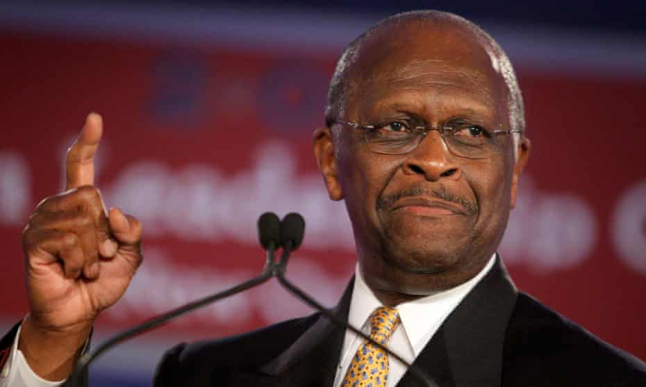 Herman Cain in June 2011. Cain died on 30 July, having been ill with coronavirus for several weeks.