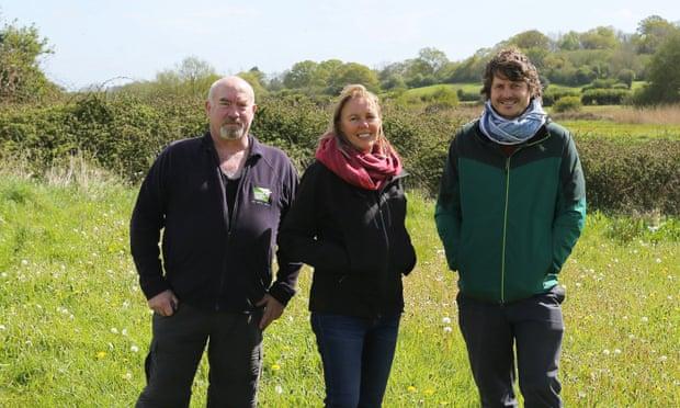 Activists Brian Bleese, Julia Davies and Rob Farrington. Photograph: James Burland/ Dorset Wildlife Trust