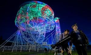 A bit dishy: Blue Dot festival.