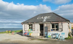 Lligwy Beach cafe and shop near Moelfre on Anglesey, UK.