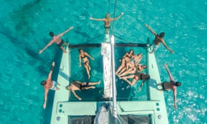 Solar powered catamarans with La Bella Verde