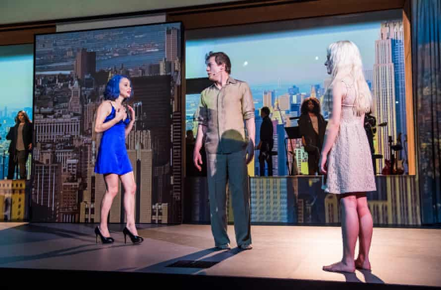 Amy Lennox, Michael C Hall and Sophia Anne Caruso in Lazarus by David Bowie and Enda Walsh