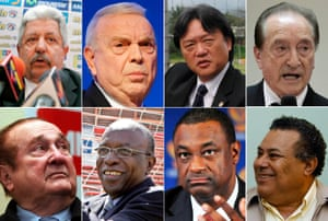 Rafael Esquivel, José Maria Marin, Eduardo Li, Eugenio Figueredo, Nicolás Leoz, Jack Warner, Jeffrey Webb, Julio Rocha
