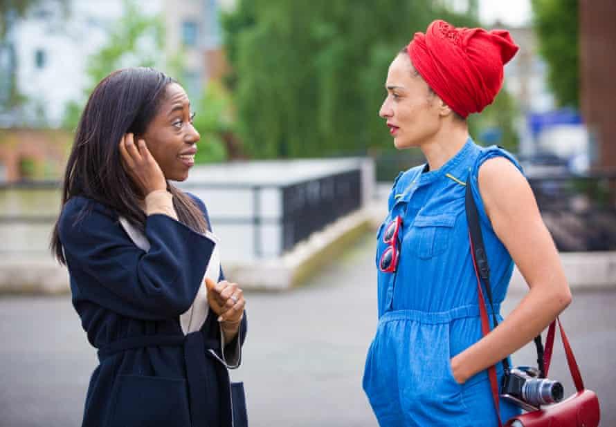 Nikki Amuka-Bird and Zadie Smith on the set of NW, the BBC's 2017 adaptation of Smith's novel.