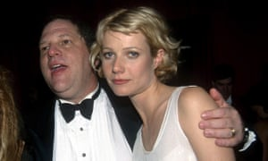 Harvey Weinstein and Gwyneth Paltrow at the Beverly Hilton Hotel in January 1998.