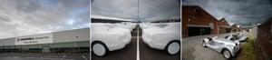 Composite of the Vauxhall, Bentley and Morgan factories in the UK